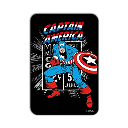 Marvel 'Captain America Chase' Officially Licensed Rectangle MDF Fridge Magnet  1 cm x 7.62 cm x 11.43 cm, PBMARCMFRMA526  Magnets
