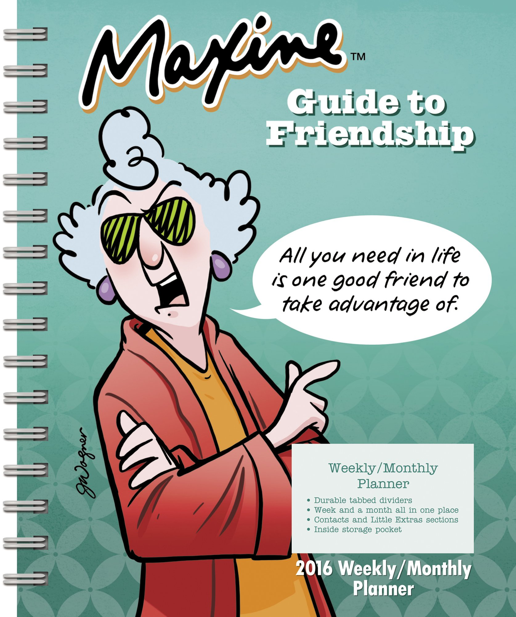 maxine weekly and monthly planner 2016 day dream 9781629052359