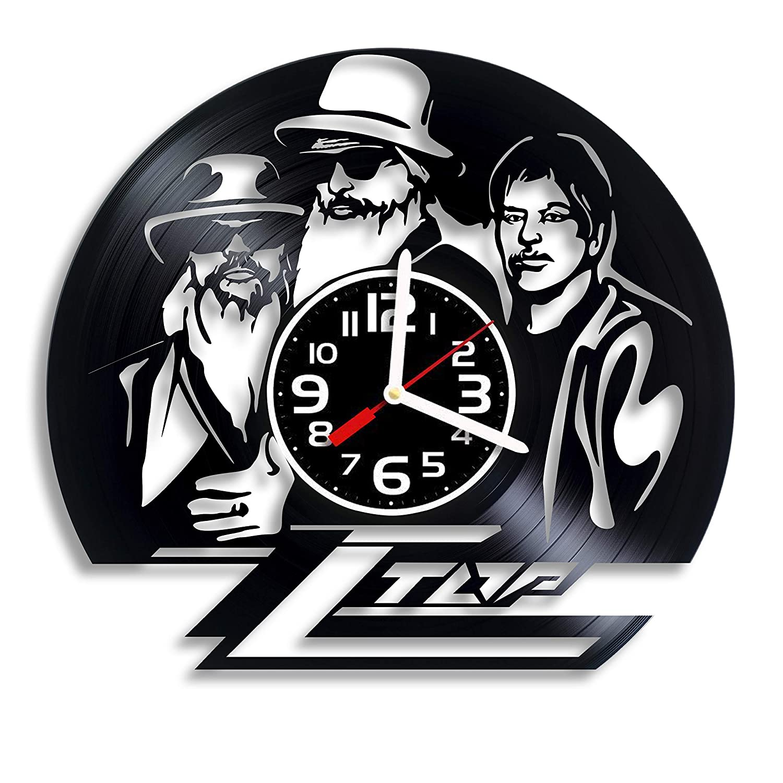 ZZ Top Rock Music Art ZZ Top Gift For Any Occasion ZZ Top Rock Band RaduPUSH ZZ Top Vinyl Wall Clock