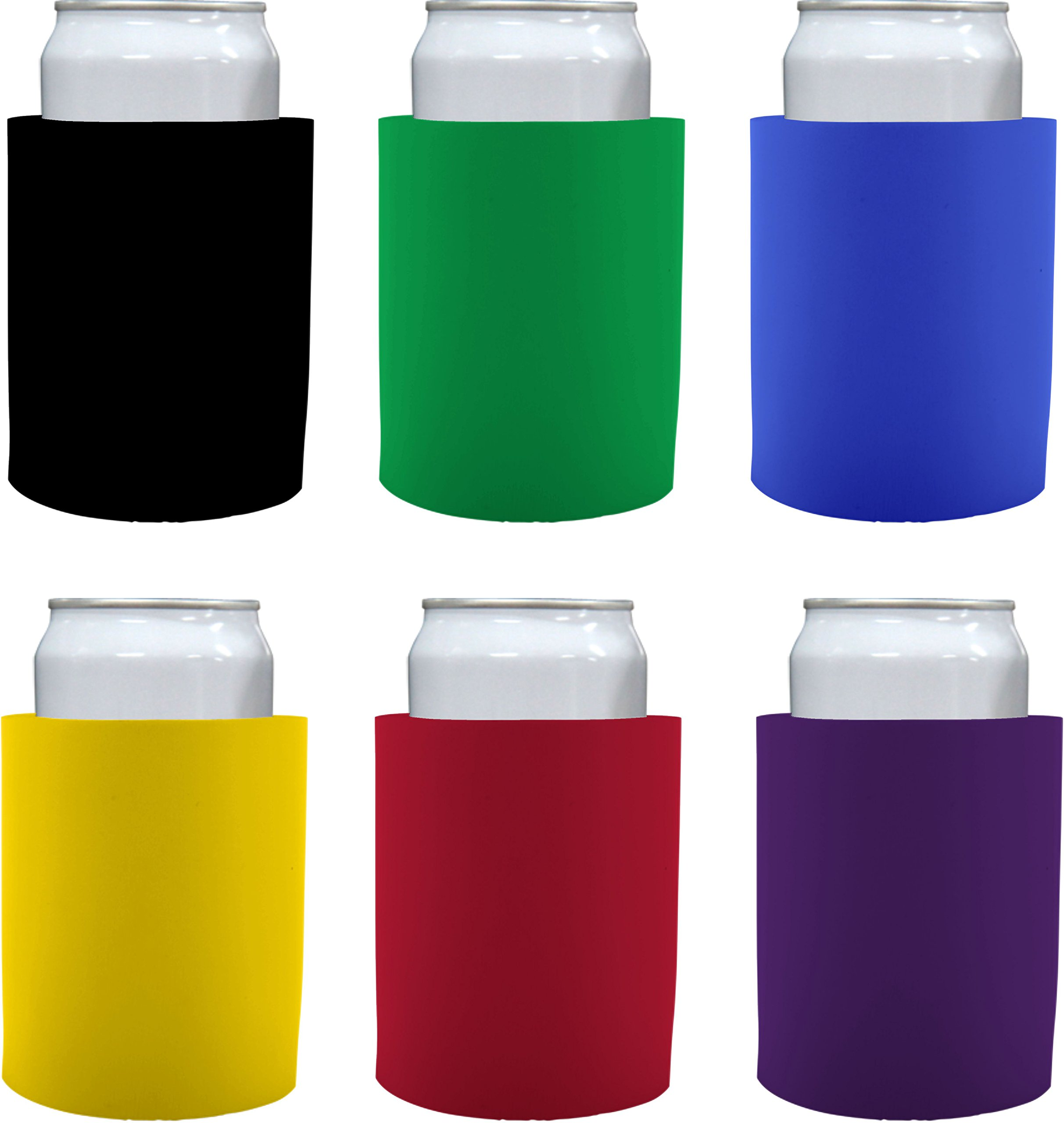 Blank Thick Foam ''Old School'' Style Can Cooler(s) (6, Various)