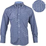 637e8c3d30f Clothing Unit Mens Polycotton Check Long Sleeve Shirt Soft Work Casual M -  5XL