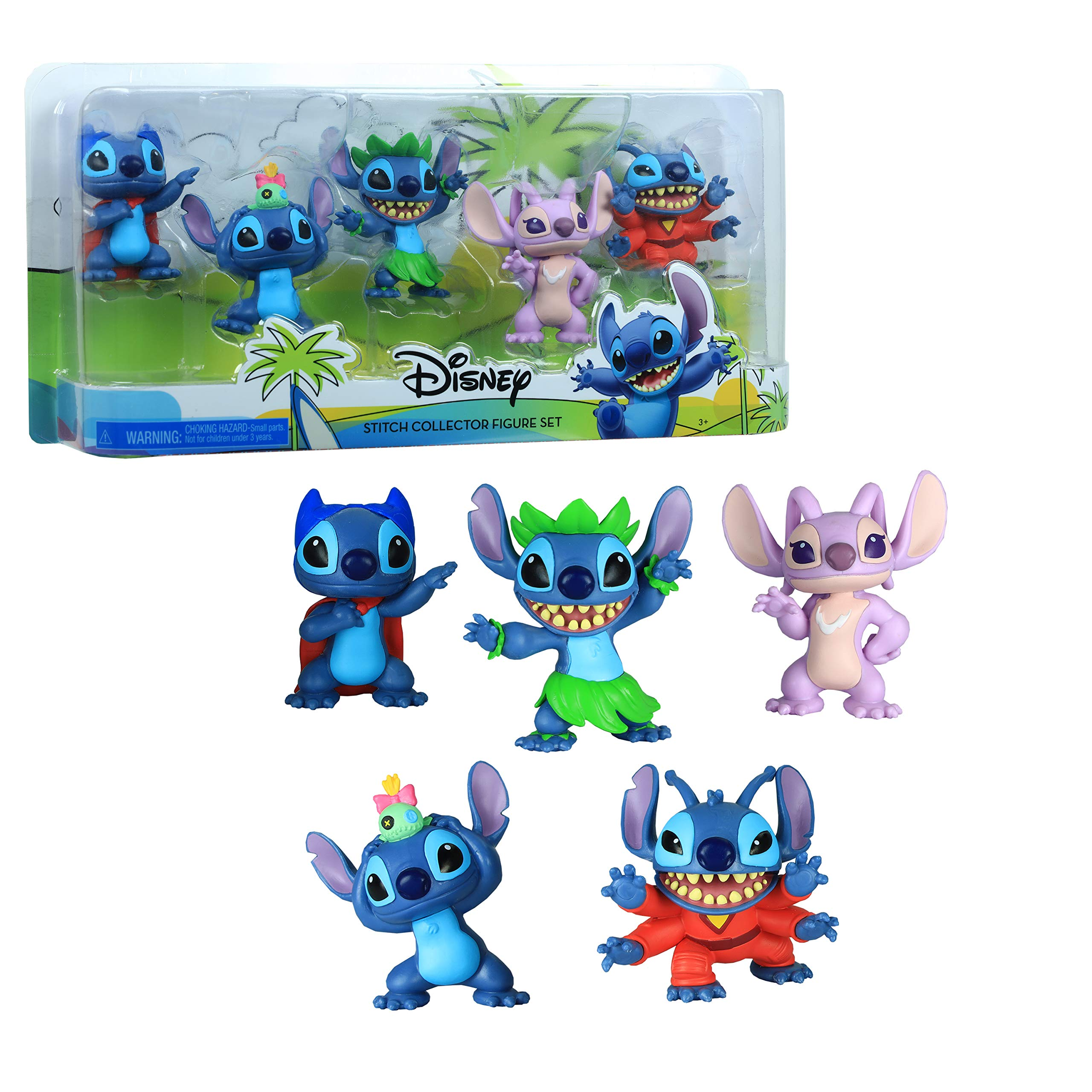 Disney Lilo & Stitch Collectible Stitch Figure Set, 5-Pieces, Multi-Color (46211)