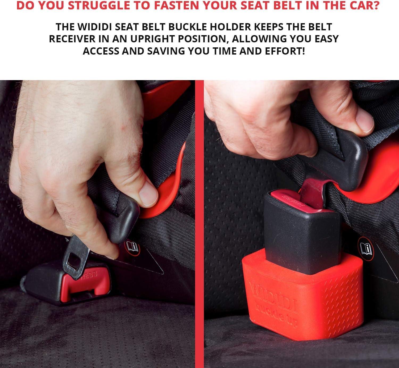 4 Pack Car Seat Belt Clip Universal Car Seat Belt Buckle Belt Buckle for Car Black