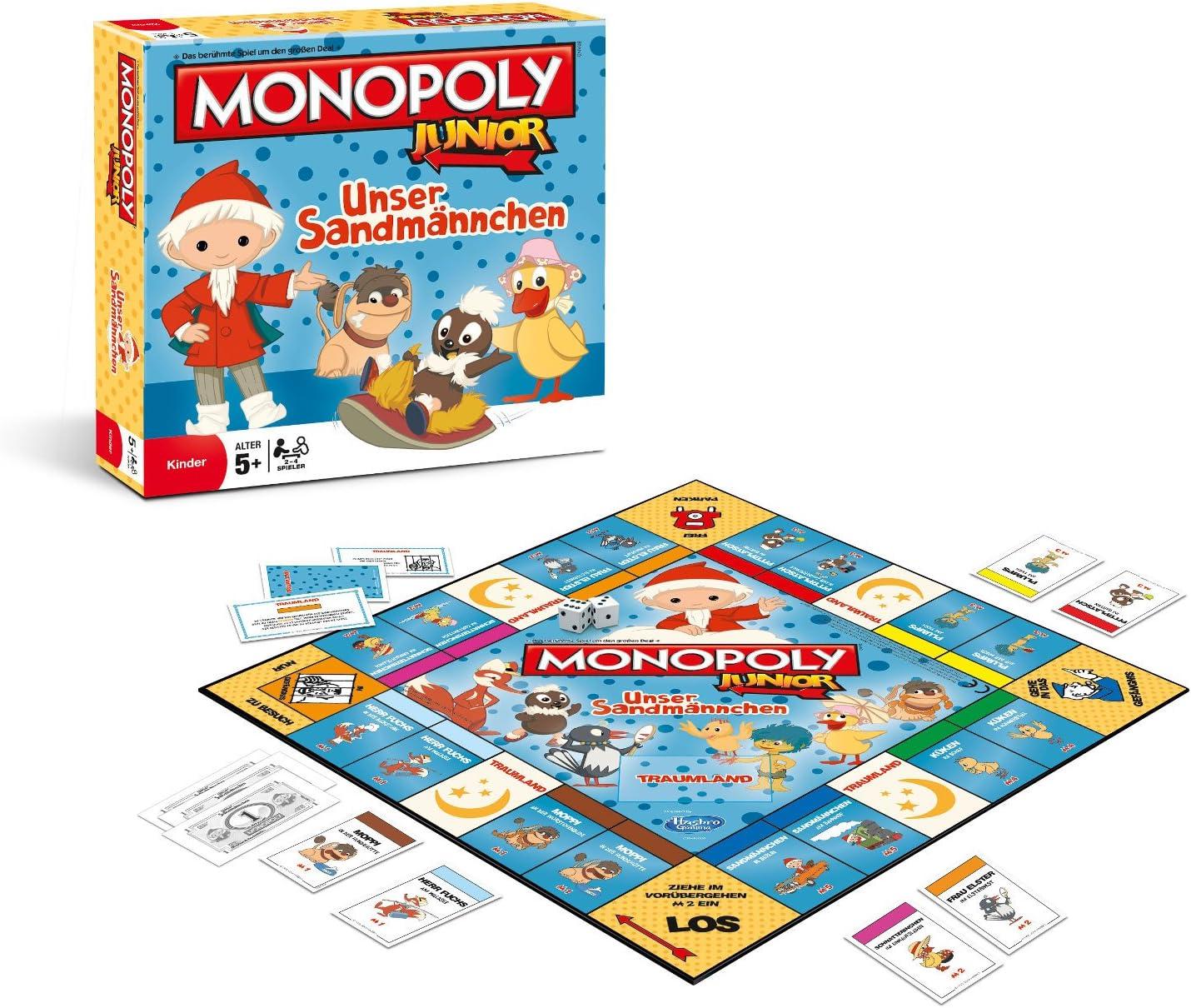 Winning Moves Monopoly Junior Unser Sandmännchen [Importación Alemana]: Amazon.es: Juguetes y juegos
