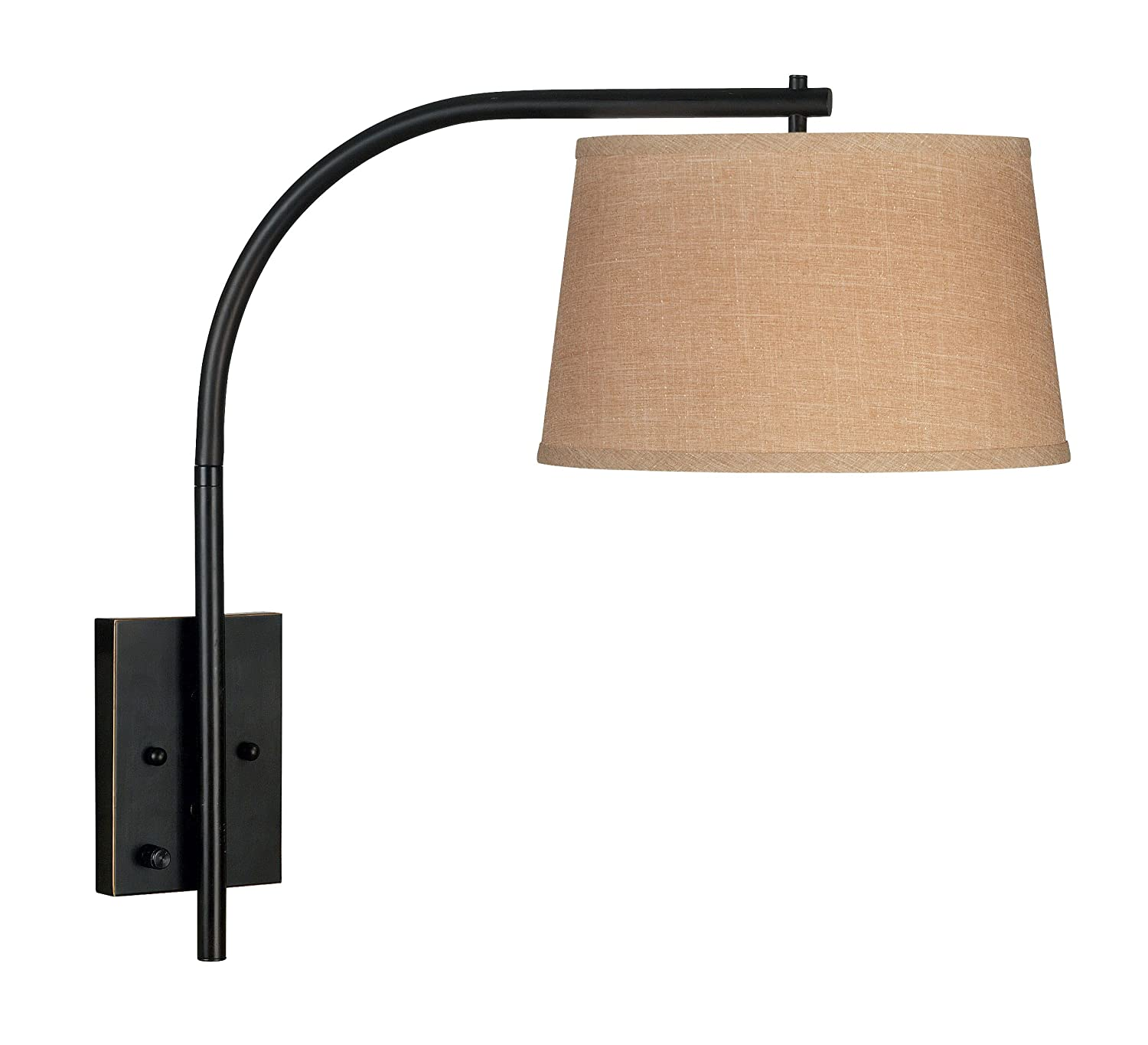 kenroy home orb sweep wall swing arm lamp oil rubbed bronze  tablelamps  amazoncom. kenroy home orb sweep wall swing arm lamp oil rubbed bronze
