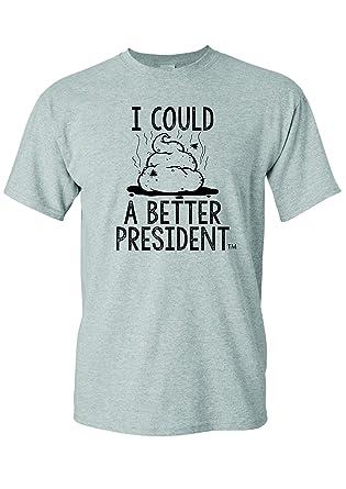 48711de1f I Could SHT A Better President Fuck Trump Sucks Funny T-Shirt S Heather Grey