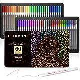 Gel Pens, Hethrone 60 Unique Colors Gel Pen Set for Adult Coloring Books Doodling Drawing Writing Bullet Journaling Scrapbook