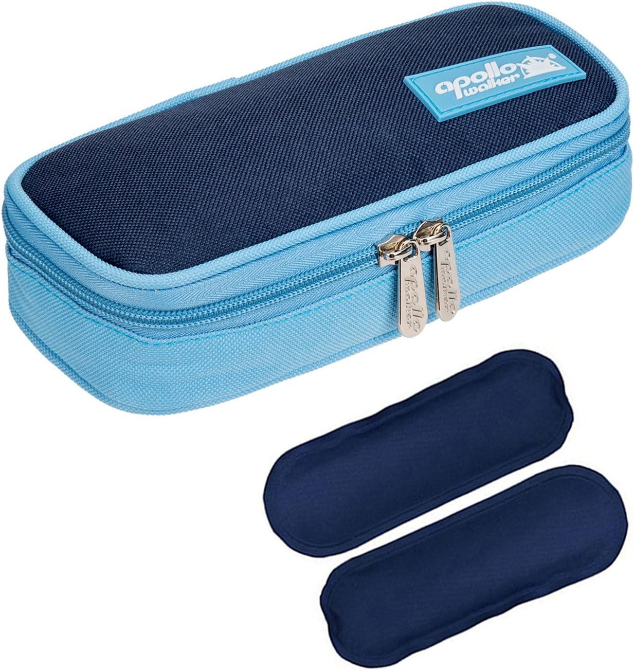 Bolsa diabética ONEGenug Enfriador de insulina Bolsa Bolsa de jeringas para la diabetes, insulina y medicamentos 20x4x9cm