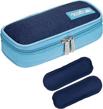 Bolsa diabética ONEGenug Enfriador de insulina Bolsa Bolsa de jeringas para la diabetes, insulina y medicamentos 20x4x9cm (azul + 2 Bolsas de hielo): Amazon.es: Deportes y aire libre