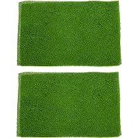 Magideal 2pcs Light Green Grass Mat Lawn Model Railway Scenery Micro Landscape Decor