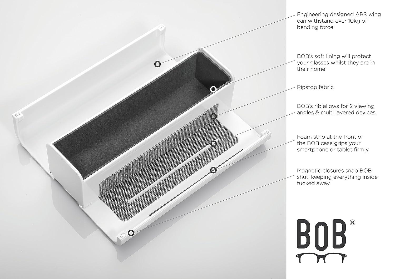 Protective Hard Shell Box Unisex Glasses and Spectacles holder White Bob: Eyeglasses Case