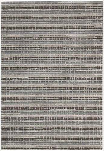 Nourison Joab6 Mulholland Taupe Rectangle Area Rug, 5-Feet by 7-Feet 6-Inches 5 x 7 6