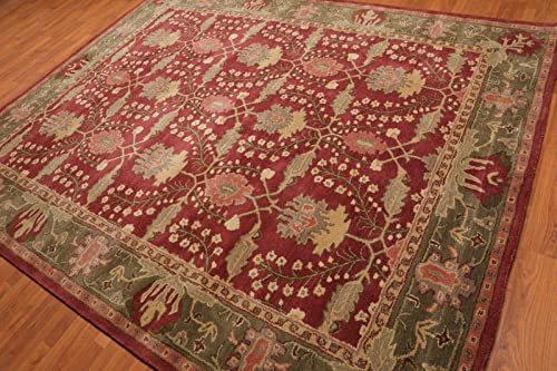 Old Hand Made Morgan Floral Traditional Persian Oriental Woolen Area Rugs 8 x10