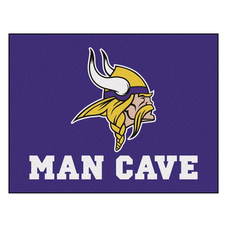 FANMATS 14328 NFL Minnesota Vikings Nylon Universal Man Cave All-Star Mat