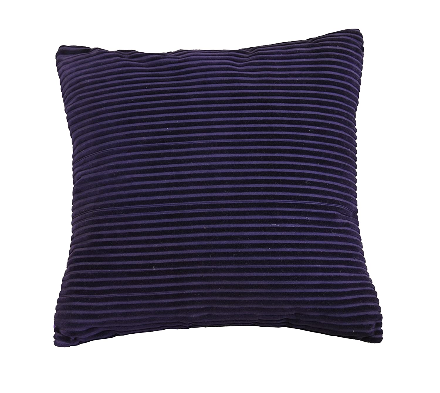 AM Home 0196 Solid Strip Square Pillow Grey