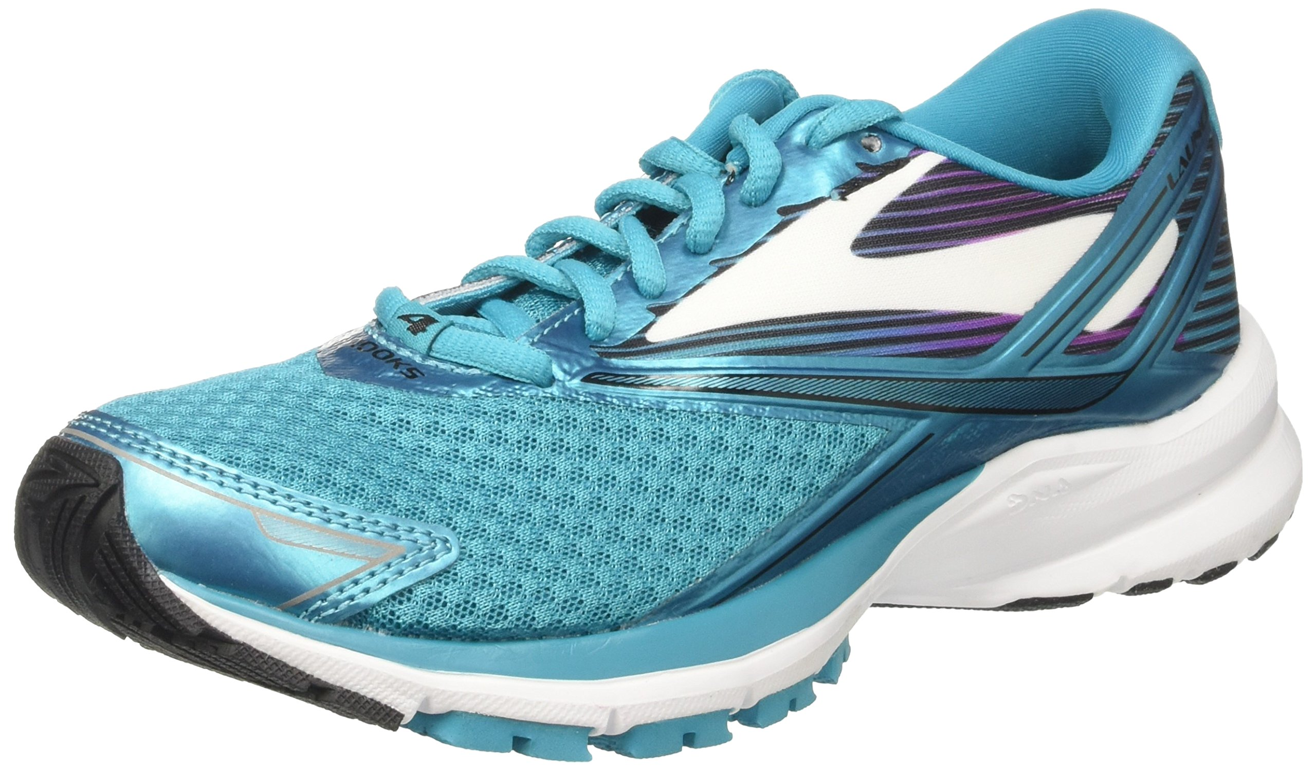 Brooks Women's Launch 4 Teal Victory/White/Black 7 B US by Brooks