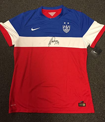 d2a85068c6b Amazon.com: Alex Morgan Signed Jersey - Team USA Nike World Cup - Autographed  Soccer Jerseys: Sports Collectibles