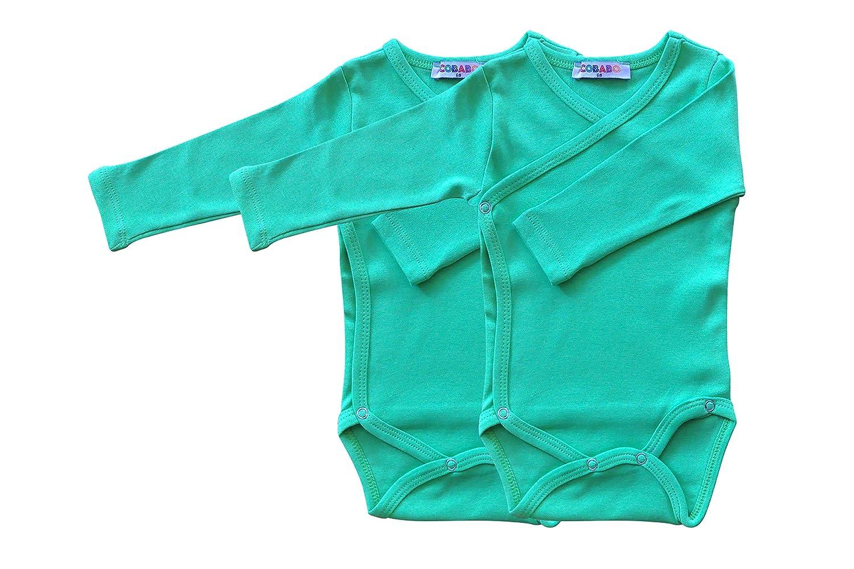 Princess Taufkleid Baby Bodys mit langem Arm Wickelbody Druckkn/öpfe 100/% Baumwolle 2 St/ück