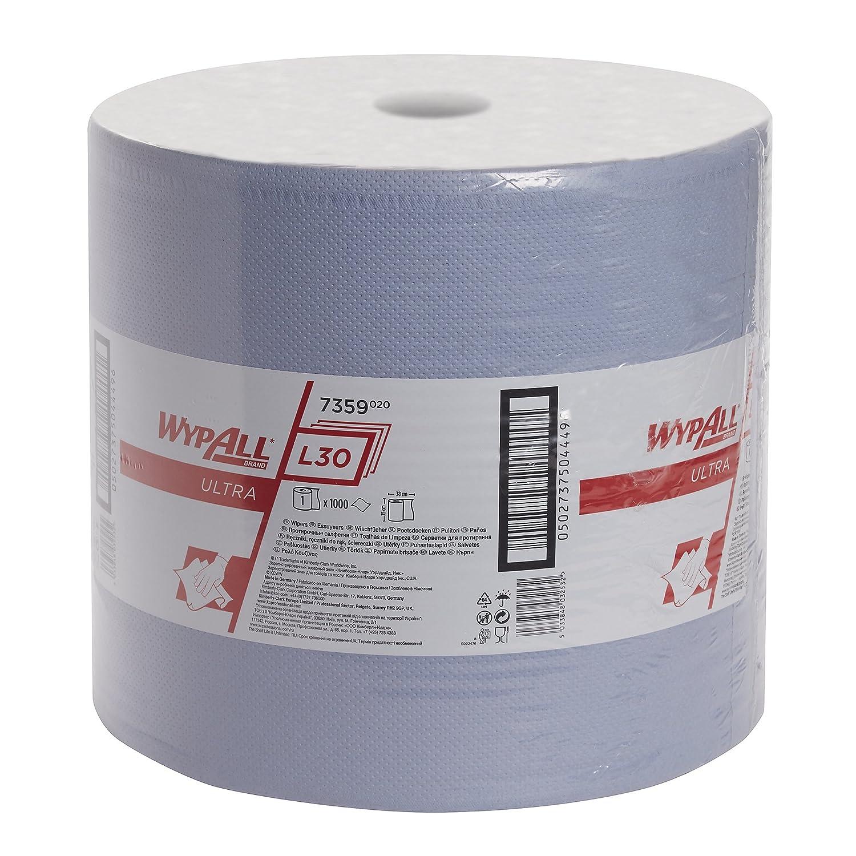 WYPALL* L30 Ultra Paños en Bobina 7359 - 1 rollo x 1.000 paños de color azul y 3 capas: Amazon.es: Industria, empresas y ciencia