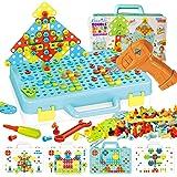 Educational Toys 4-in-1 Building Blocks Set for Kids, HOMCENT 252 Pcs STEM Learning Toys 2D 3D Construction Engineering Diy E
