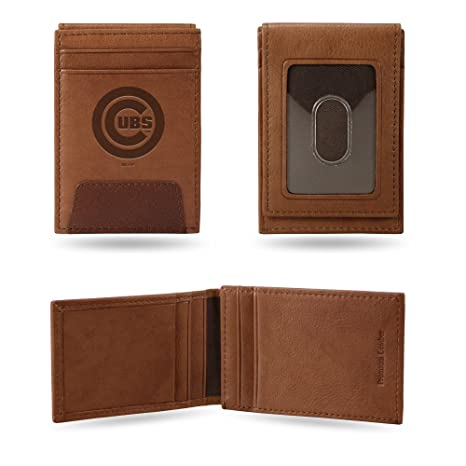 2fea59e6 Rico Industries, Inc. Chicago Cubs Premium Brown Leather Money Clip Front  Pocket Wallet Baseball