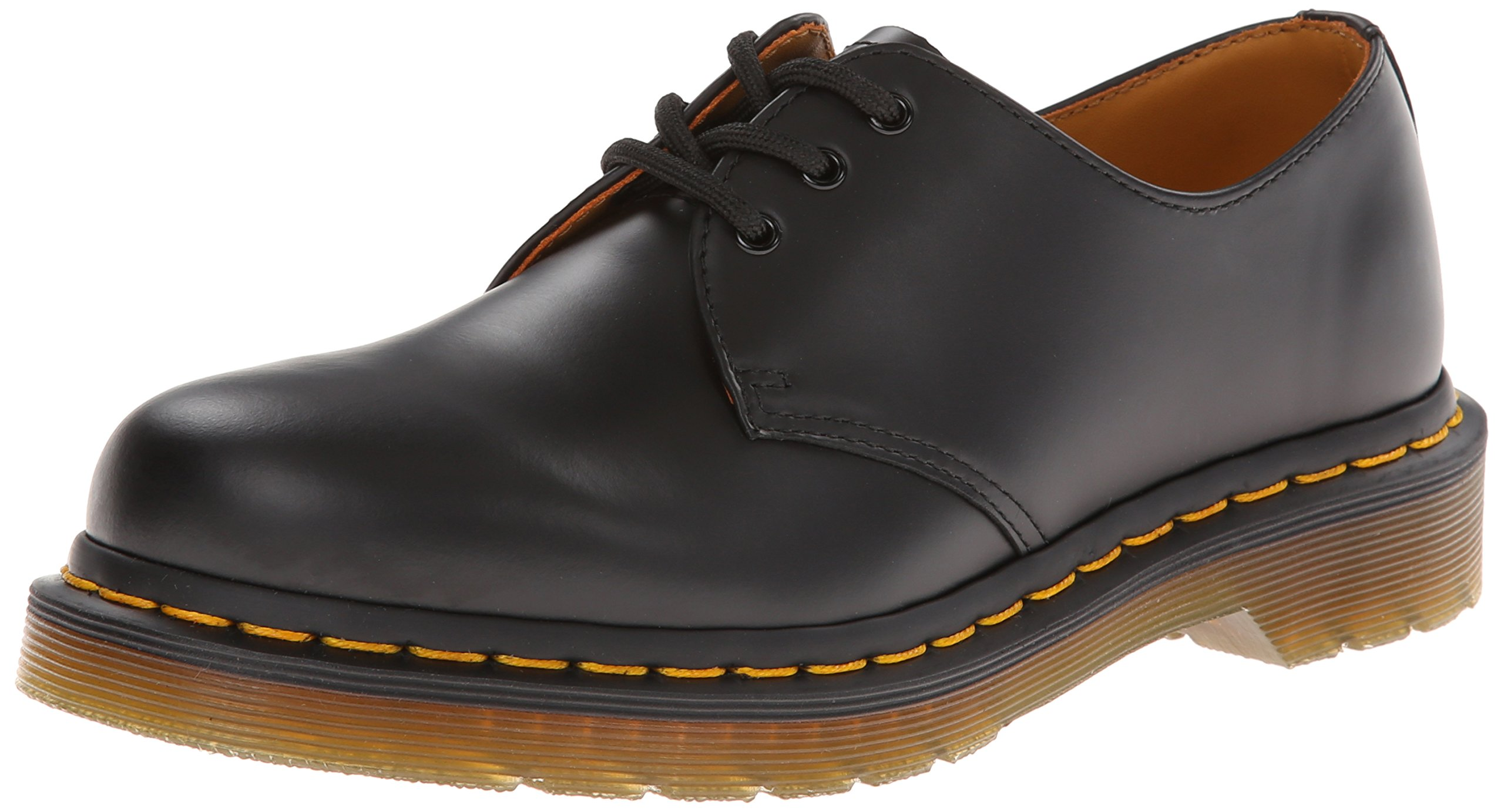 Dr. Martens Men's 1461 3 Eye Shoe,Black Nappa,8 UK/9 M US