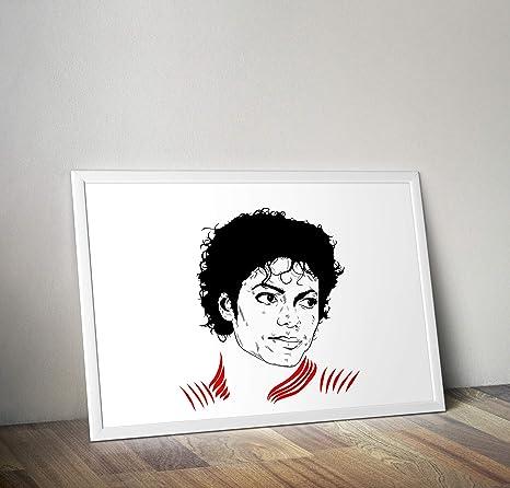 P/óster decorativo para pared Michael Jackson dise/ño de Michael Jackson