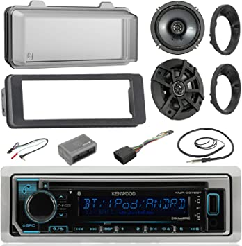 Bluetooth CD Radio Cover,Antenna 98-13 FLHX Scosche Harley Adapter Install Kit