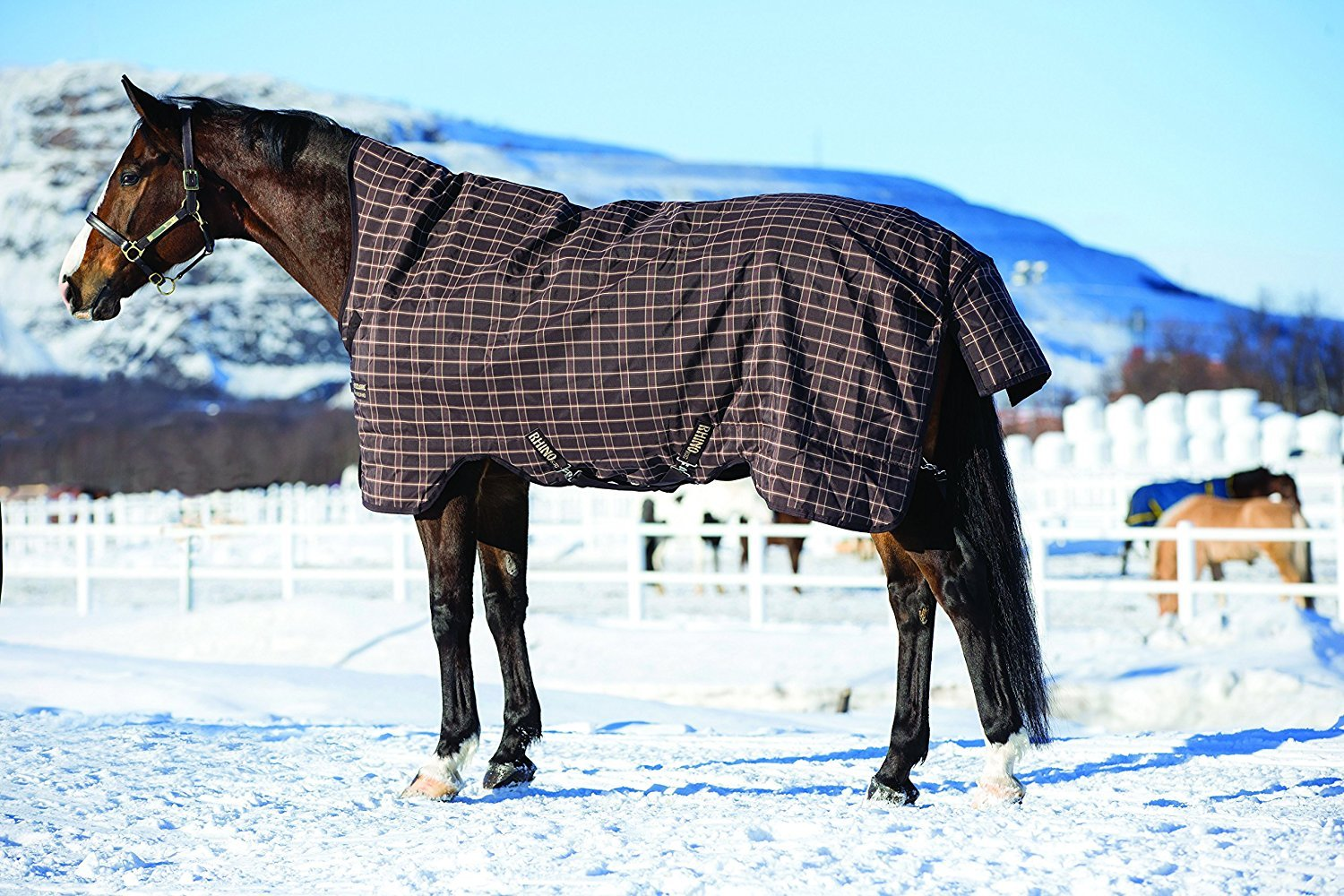 Chocolate with cream check with chocolate & cream 115 chocolate with cream check with chocolate & cream 115 Horseware Rhino Wug 0g Lightweight Turnout Rug