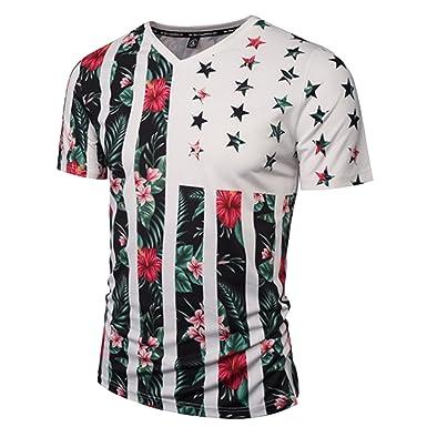 36241302056 Amazon.com  HSGF JSHF Tropical Luau Beach Men s 3D Hawaiian Aloha Shirt  American Flag Men Short Sleeve T Shirt  Clothing