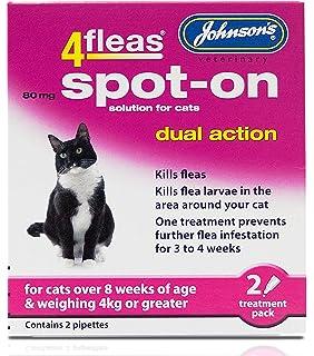4 Fleas doble acción Spot On para gatos y gatitos – Producto nuevo