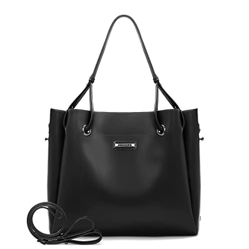 bb9486689a34 Amazon.com  ECOSUSI Women Top Handle Satchel Handbags Hobo Bag Shoulder Bag  Purse 2 Pieces