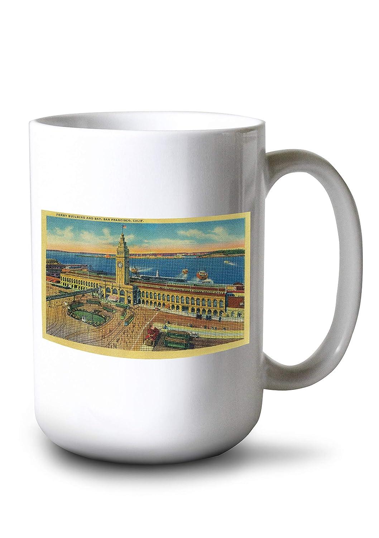 San Francisco Ferry建物とベイ 15oz Mug LANT-3P-15OZ-WHT-1840 B077RS6CRN  15oz Mug