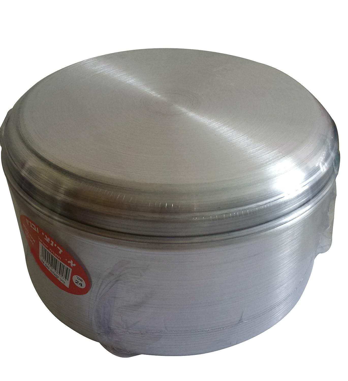 JACHNUN Aluminum Bowl Pot Cookware Original Traditional Yemenite Jewish Food Baking Cooking Dish 16cm Sealed (6.3in) Dinachi