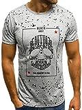 OZONEE Herren Tanktop Tank Top Tankshirt T-Shirt mit Print Unterhemden Ärmellos Weste Muskelshirt Fitness Black Rock 51095