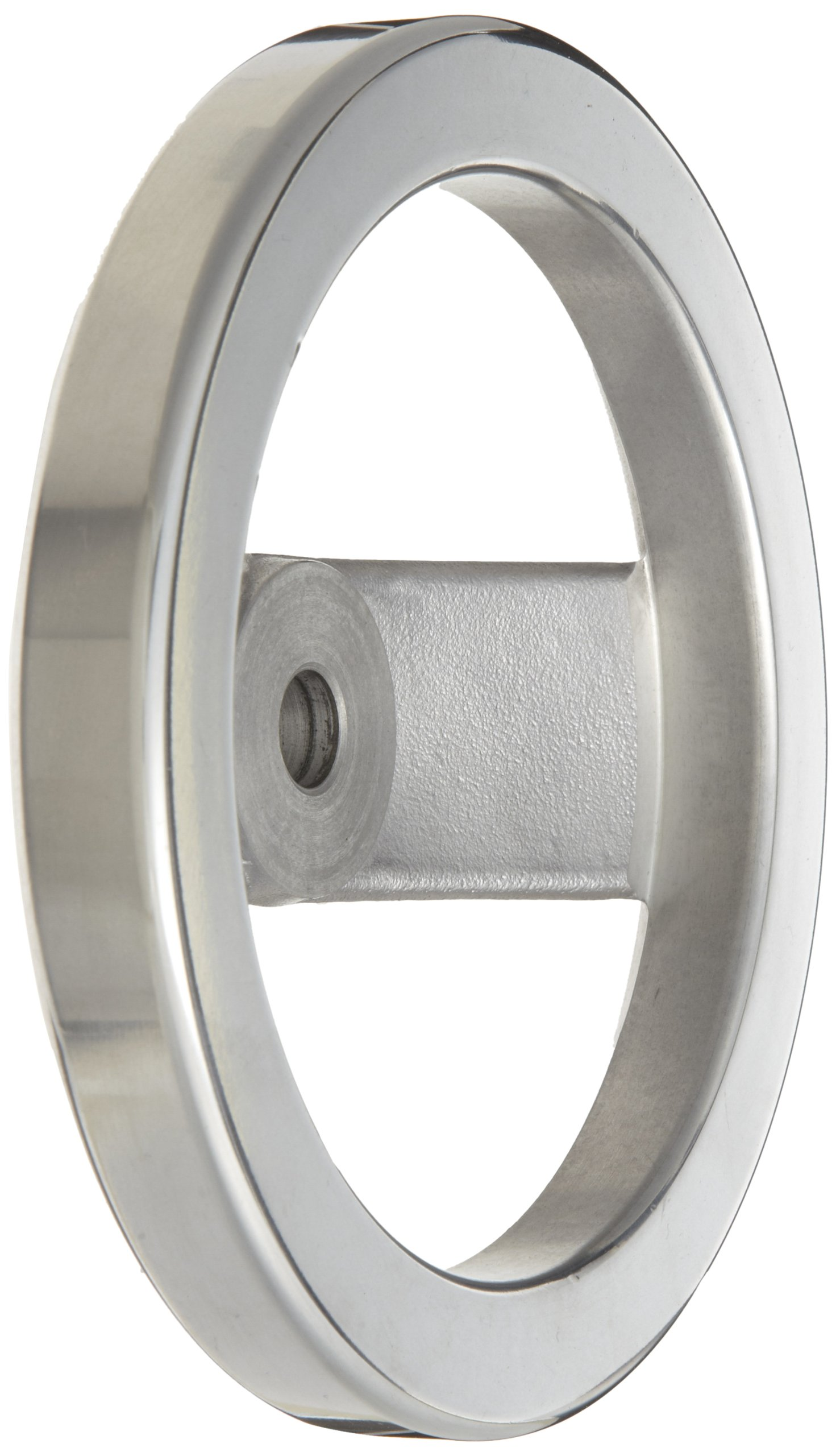 2 Spoked Polished Aluminum Dished Hand Wheel without Handle, 6'' Diameter, 1/2'' Hole Diameter (Pack of 1)