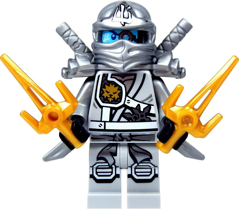 Amazon.com: LEGO Ninjago Minifigure - Zane Titanium Ninja with Gold &  Silver weapons: Toys & Games