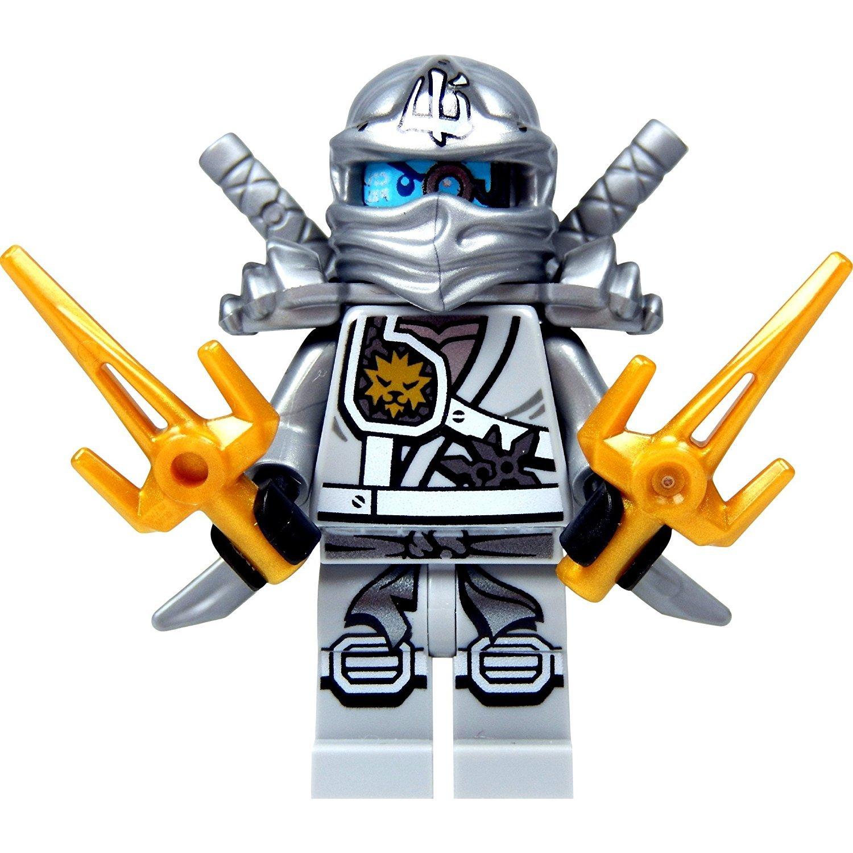 Amazon.com: LEGO Ninjago – Minifigura Zane Ninja de titanio ...