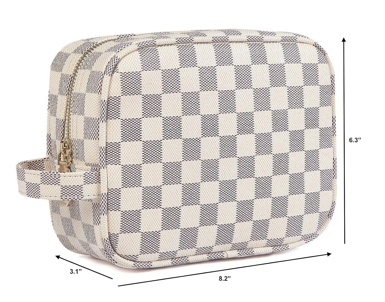 Cosm/ético de la PU del cuero vegano bolsa de viaje de Tocador Daisy Rose X Katy Roach cuadros de lujo componen el bolso