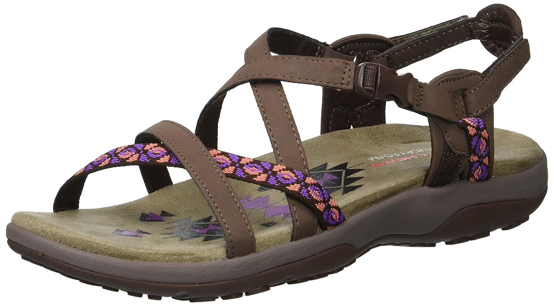 Skechers Women's Reggae Slim-Vacay Sandals B0756JT1DL 9 W US|Chocolate