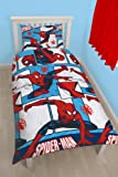 Character World Disney Spiderman Ultimate Parker - Juego de ropa de cama individual, multicolor