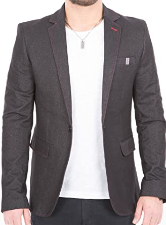 Crom - Elegante chaqueta de traje para hombre, estilo ...