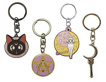 ABYstyle - Sailor Moon - Juego de 4 llaveros (Luna, Artemisa ...
