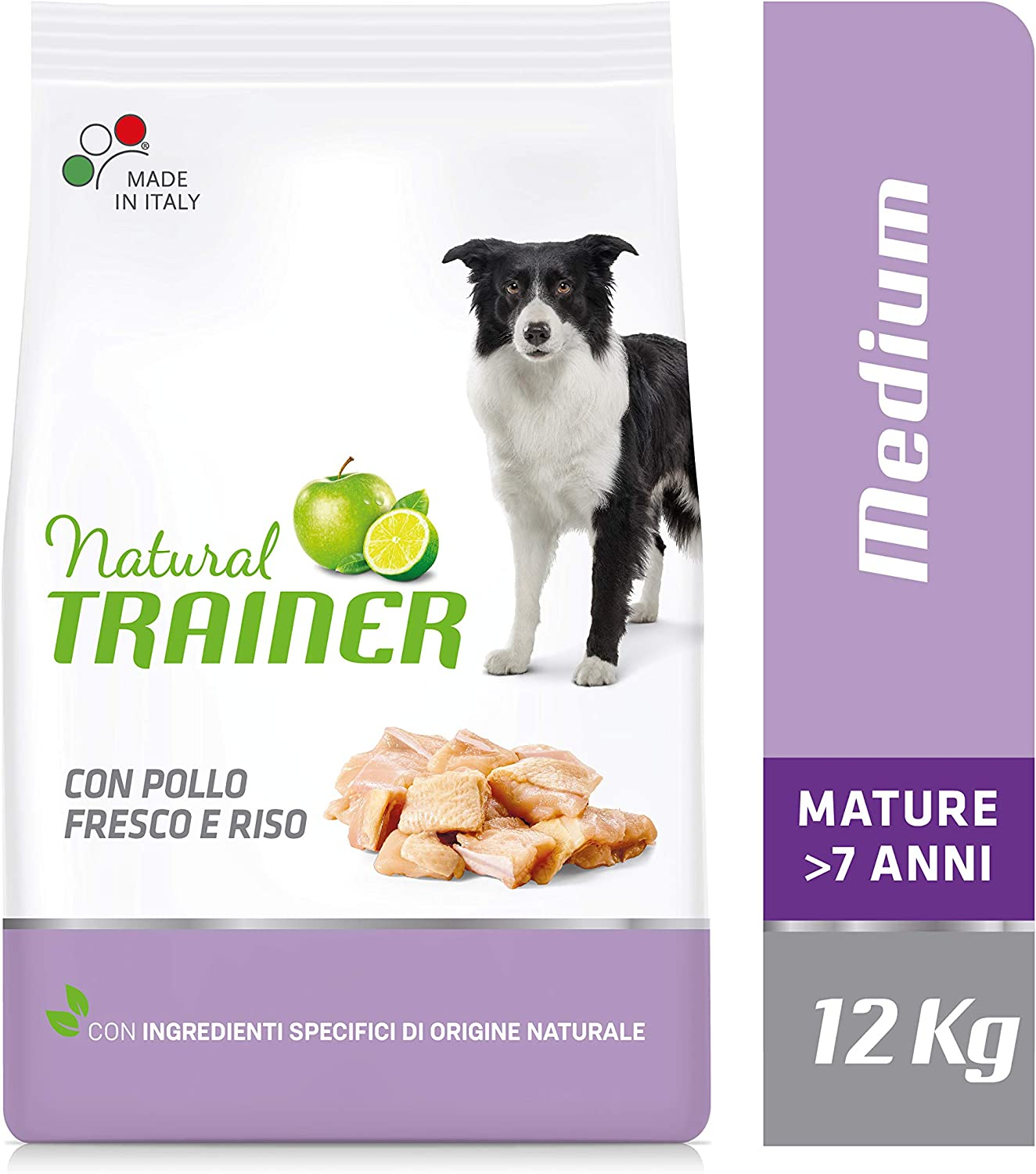Trainer Natural Canine Medium Pollo 12KG Negro 12