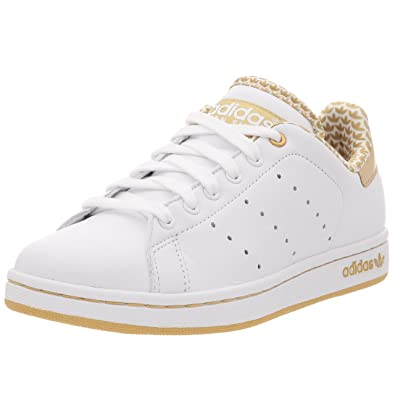 fd9b5e0f51d29 adidas Stan Smith 2 W, Basket mode femme - blanc/blanc/or métallique ...