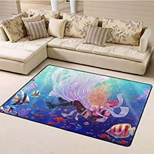 Bath Mats Carpet,Fairy Tail Area Rug Extra Large W71xL82.6 inch