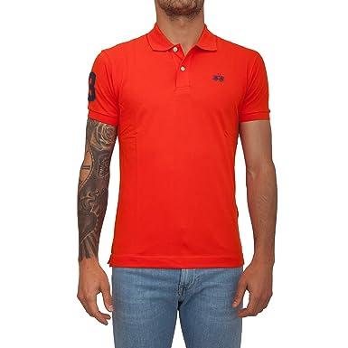 La Martina Hombres Camisa de Polo Scottie Fit Slim Naranja XL ...