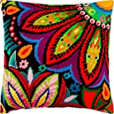 Needlepoint Kit European Quality Throw Pillow 16/×16 Inches Milano Printed Tapestry Canvas