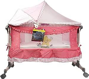 سرير اطفال من بيبي بلس للبنات - زهري