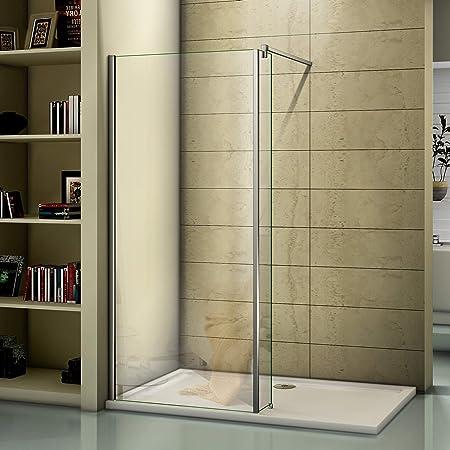 Mampara de ducha de 2000 mm de altura para cuarto de baño, panel de cristal de